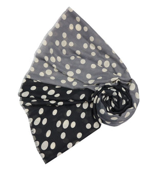 Scarf - Two Tone Dots - Grey