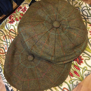 Baker Boy Olive Tweed Hat