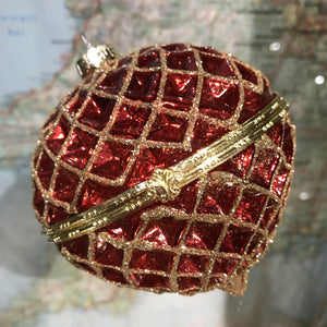 Red and gold bauble