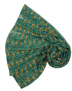 Scarf - Woodland Fox - Green