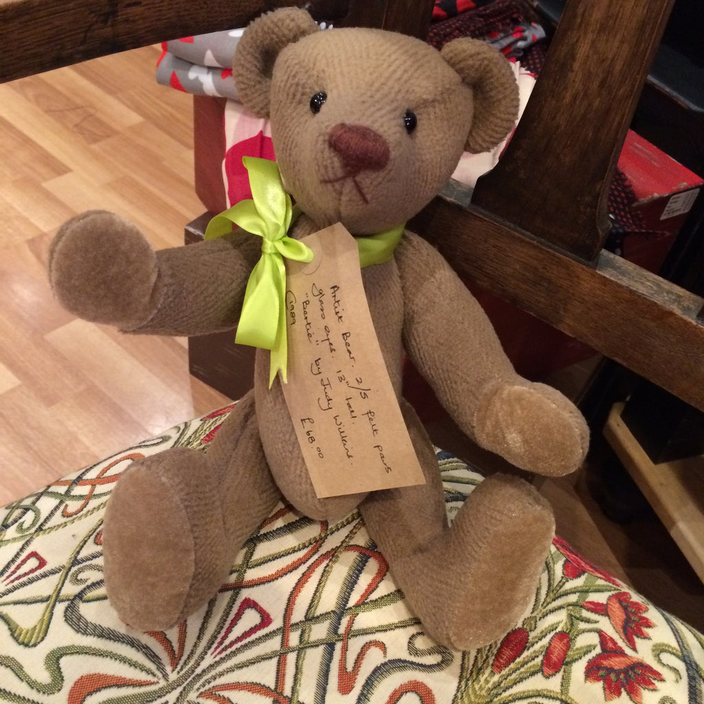 Bertie the Handmade Artist Bear