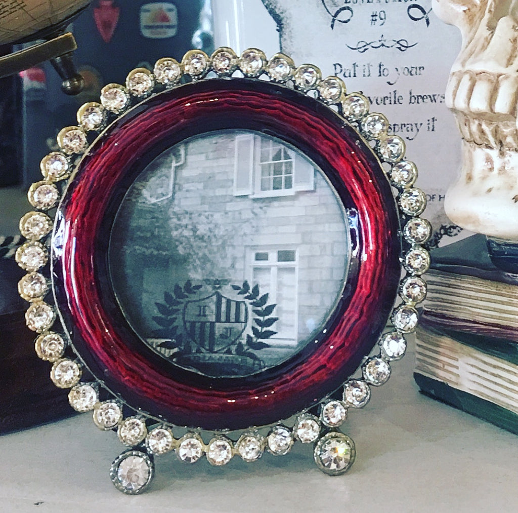 Burgundy Frame with Crystals