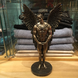 Standing Male Bronzed Angel Figurine