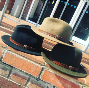 Felt Fedora with Leather buckled band