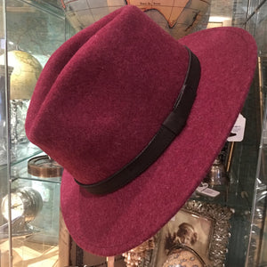 Crushable Mixed Wool Wine Fedora