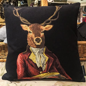 Cushion - Deer in Red Frock Coat