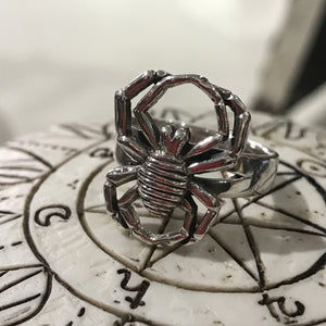 925 Sterling Silver Spider Ring