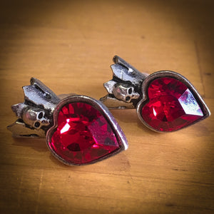 Red Heart Swarovski Stud Earrings