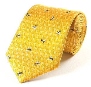 Silk Tie - Bees and Hives