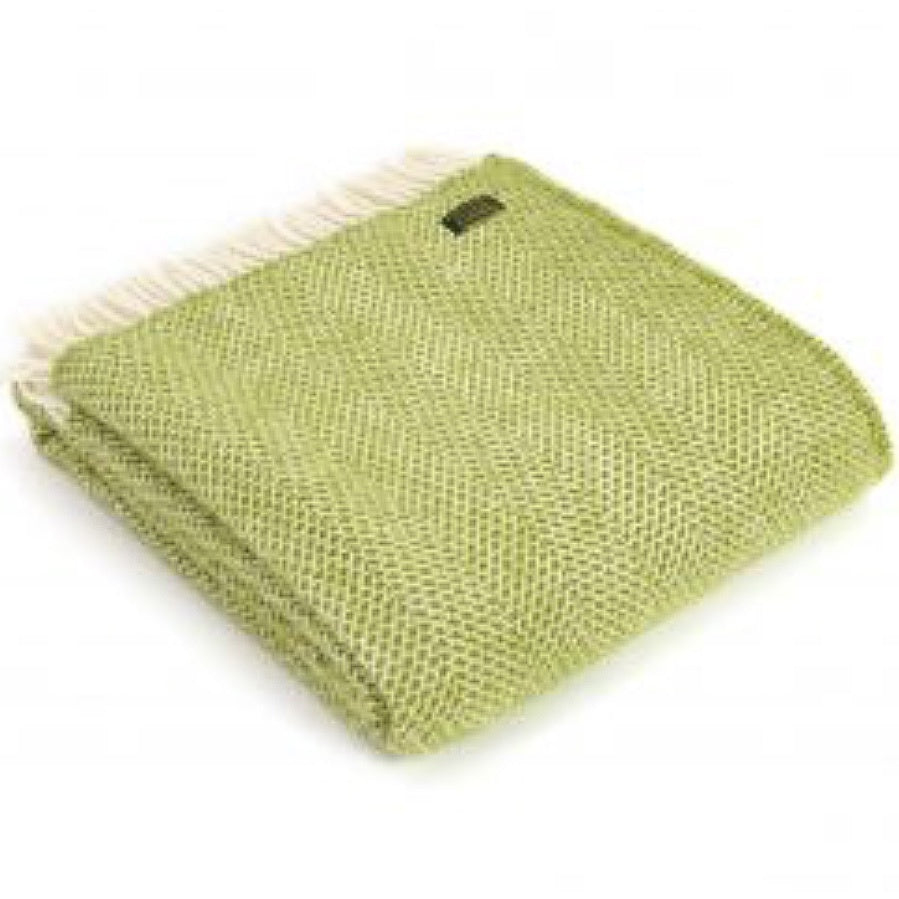 Pure New Wool Beehive Fringed Throw