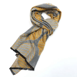 Scarf - Wrap - Terry Leaf - Silver