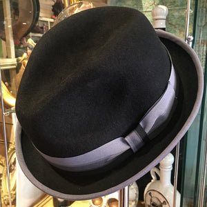 Trilby Hat - greys trim with 3 grey band