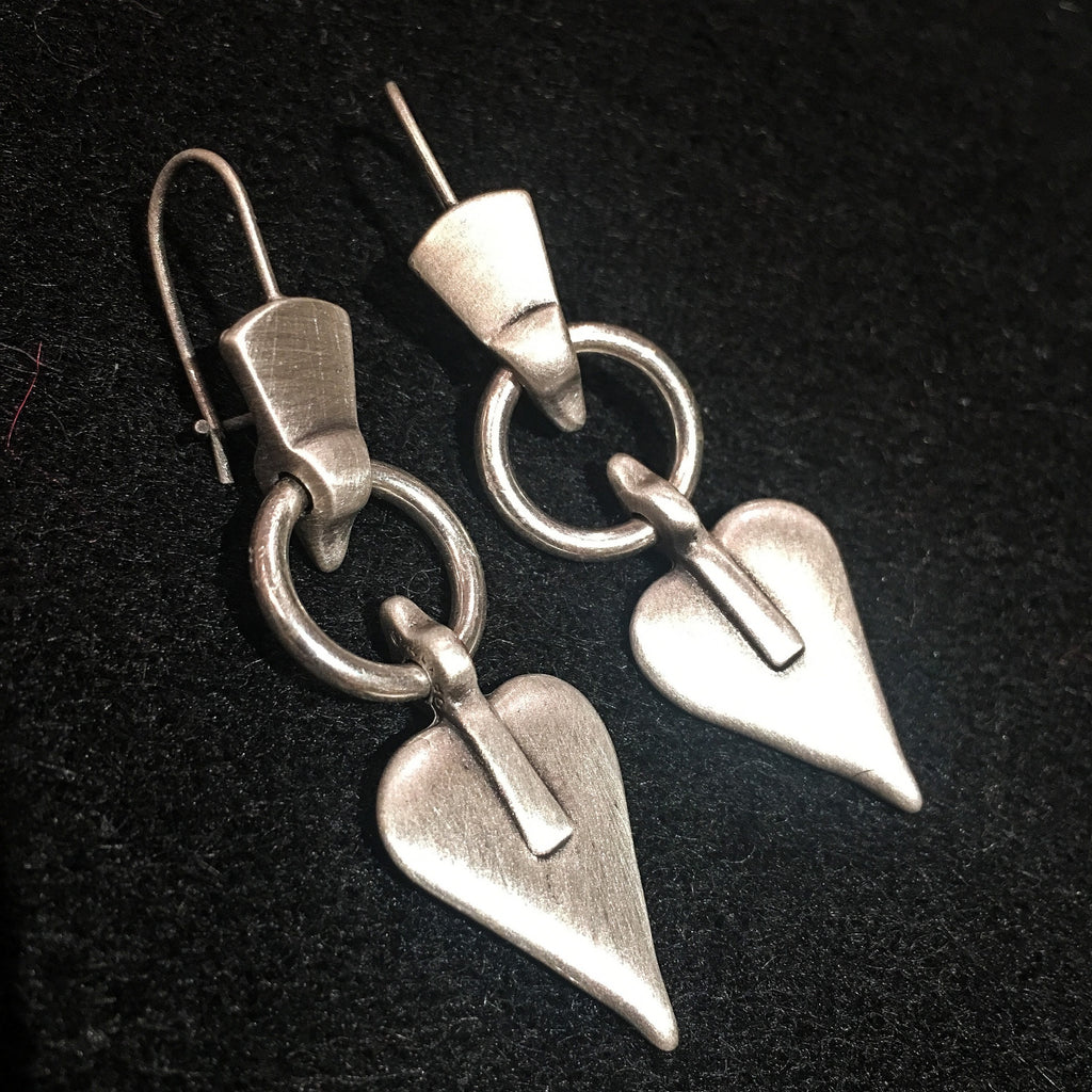 Danon Drop Heart Earrings