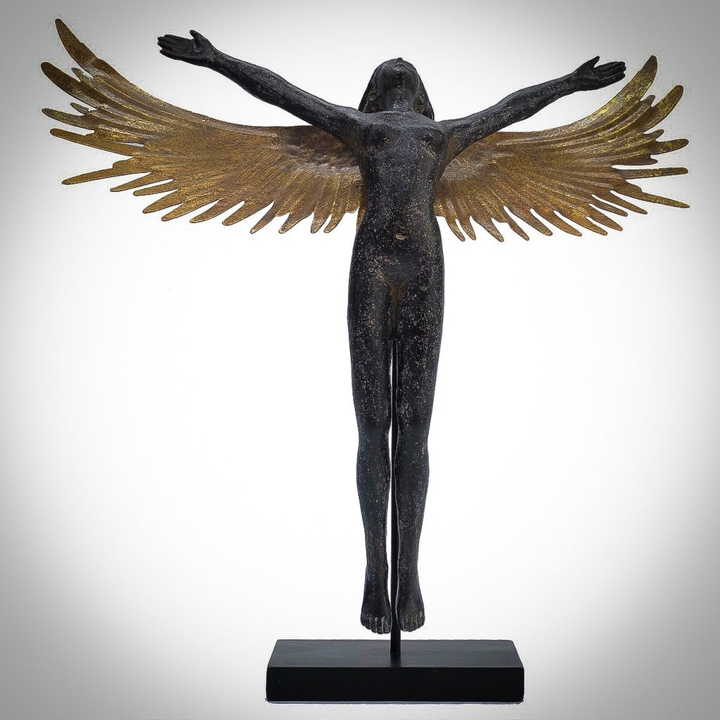 A Female Angel Figure with Gold Wings