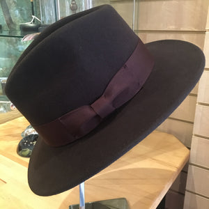 Crushable Fedora Hat - Brown
