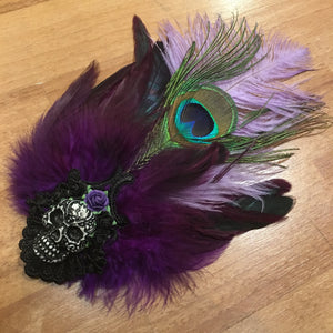 Feather Skull Corsage Brooch