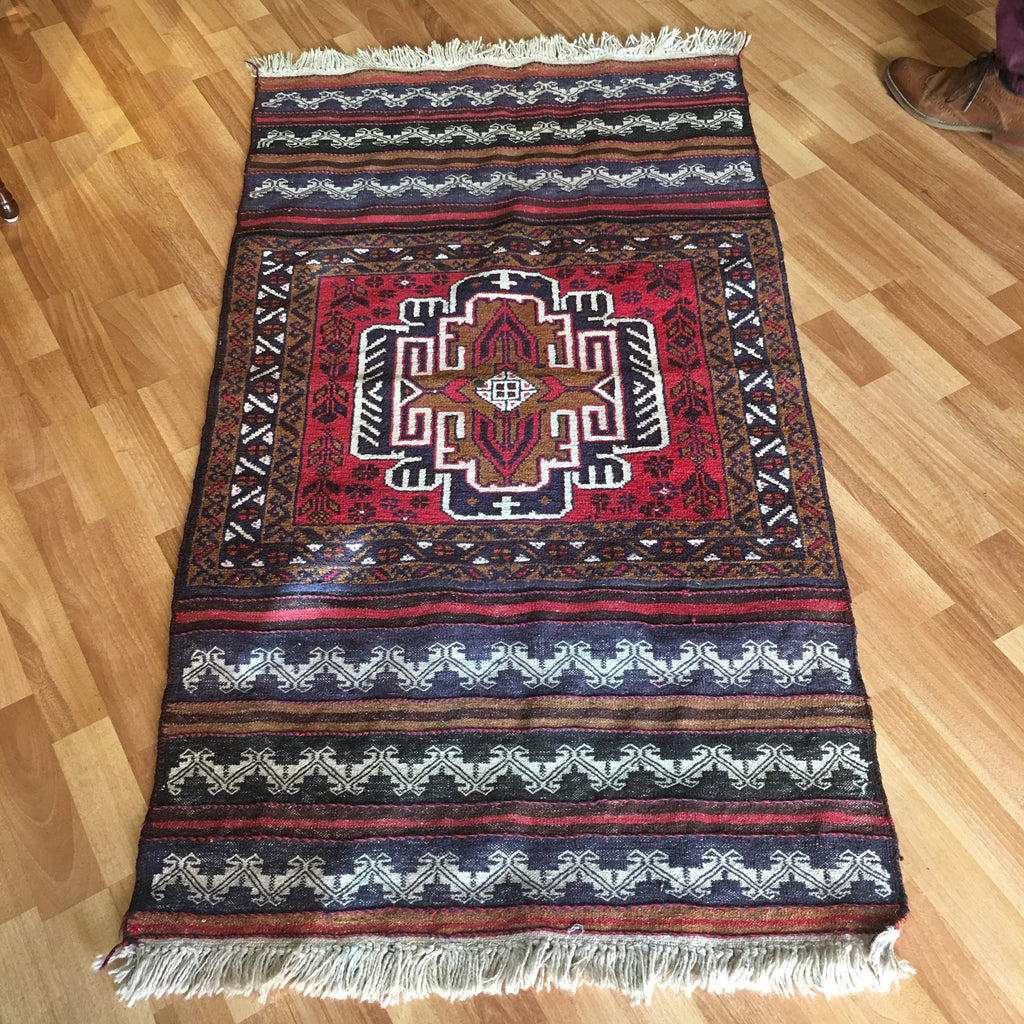 Rug - Red/Black Patterned Small Rug