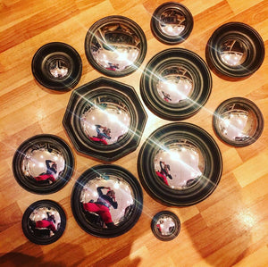 Black Framed Convex Mirrors