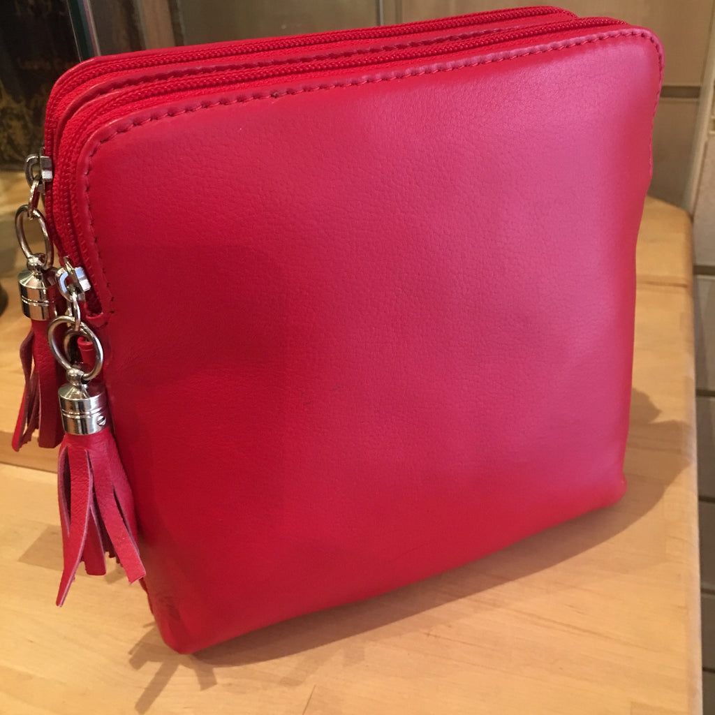 Valentino double zip cross body bag