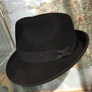 Black Trilby wool hat - M