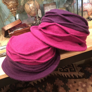 Two Tone Wool Pull On Hat