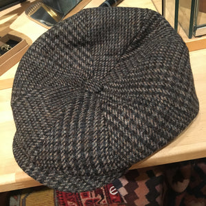 Baker Boy Brown Tweed Hat