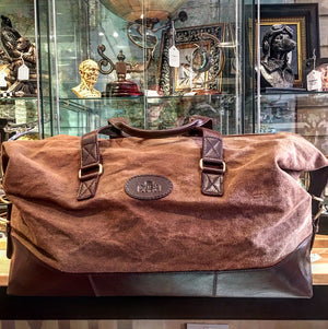 Canvass and Leather Weekend/Holdall Bag