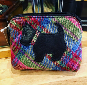 Tweed Coin Purse with Scotty Applique