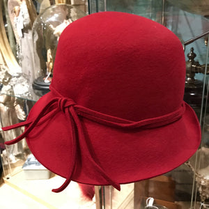 Cloche Hat with Dual Felt Band