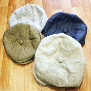 Irish Linen Alfie Baker Boy Hat