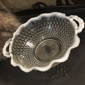Antique Hobnail Glass Bowl