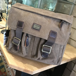 Brown Canvas Satchel Bag