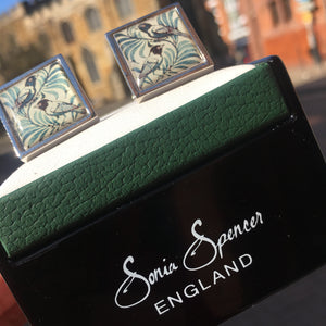 De Morgan Birds Cufflinks