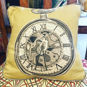 Pocket Watch Mini Scatter Cushion