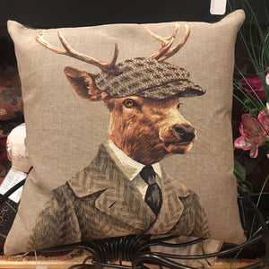 Cushion - Deer in Flat Cap