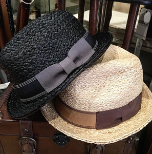 Raffia Summer Trilby with Ribboned Bow Band