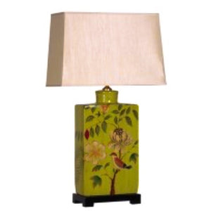 Green Parrot Lamp with Shade