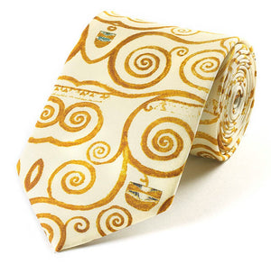 Silk Tie - Klimt Tree of Life - Gold