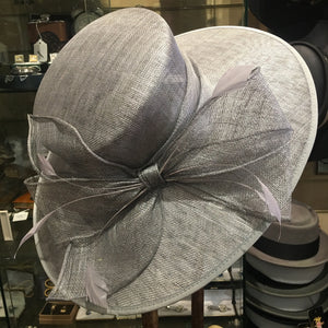 Large Sinamay Hat With Large Decorative Bow