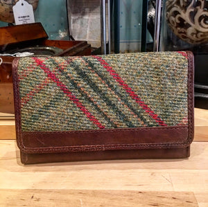 Leather and Islay Tweed Wallet