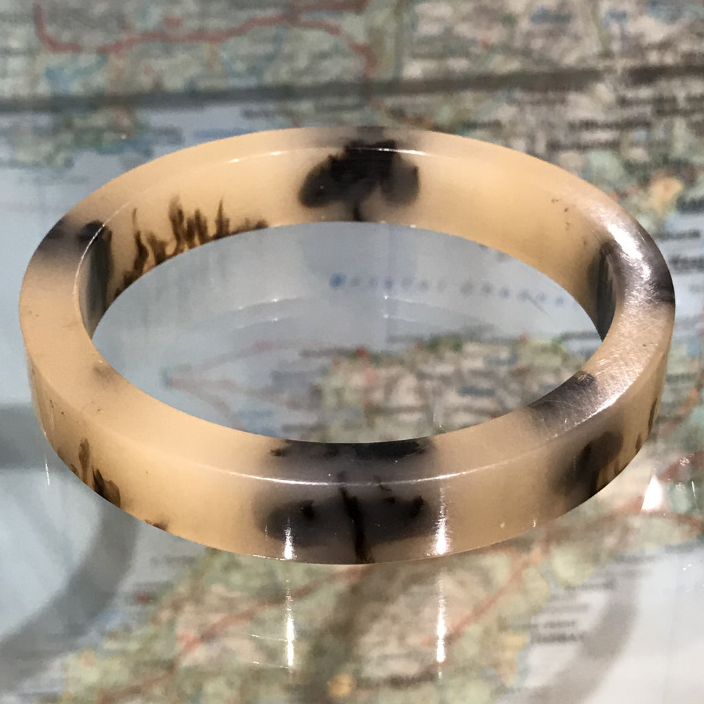 Faux horn resin bangle