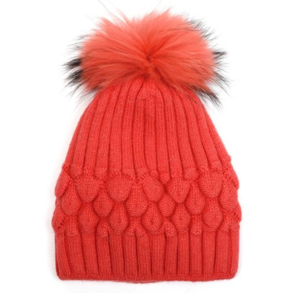 Beanie Bobble Hat with Pom Pom