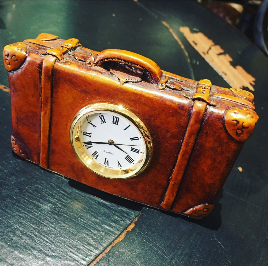Clock Suitcase Tan
