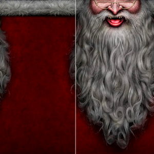 Creepy Santa Festive Face Wrap