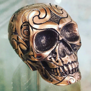Small Celtic Bronzed Skull