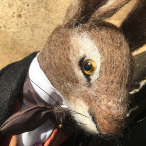 Handmade Standing Dandy Hare - Lord Horatio