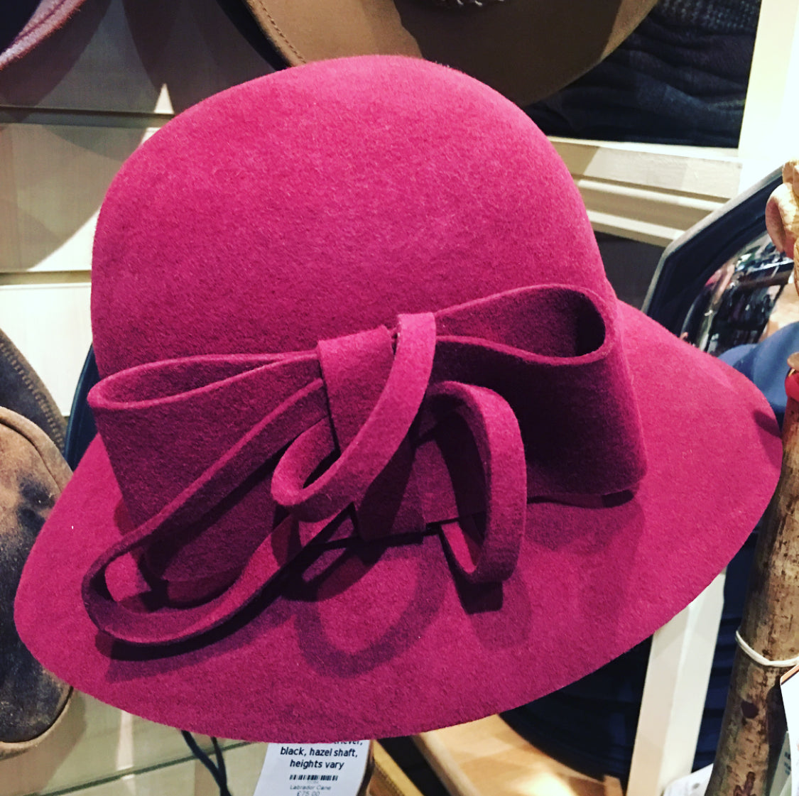 Cloche Hat With Fancy Felt Bow