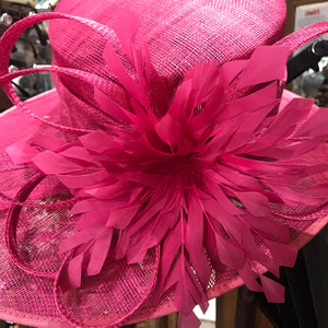 sinamay wide brimmed hat