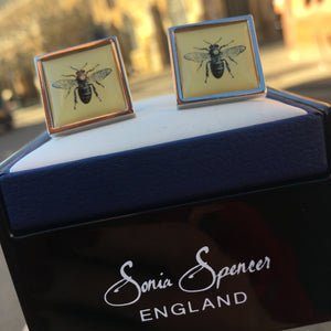 Bee - Gold Cufflinks