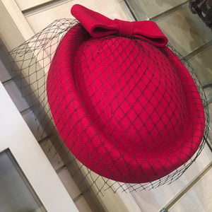 Pill box Hat With Mesh Veil